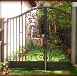 La strada privata di obbligazione Gates il doppio cancello del ferro saldato dell'oscillazione