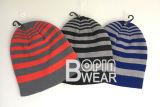 Il cappello su ordinazione acrilico POM del Knit del Beanie di usura del pattino di modo delle donne o dell'uomo ha lavorato a maglia il Beanie del Knit del cappello di inverno