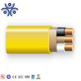 Leiter rundes) 600V Belüftung-Isolierungs-Nylonumhüllung des Kabel-Nm-b (kupferne farbunterlegte Belüftung-Umhüllung Nonme 14-3AWG