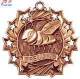 Personnaliser de haute qualité placage Antique Honeybee médaille de métal