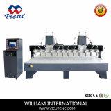 Деревянный Engraver Multiheads CNC машины высекая машину