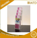 Support acrylique d'étalage de brochure de bourse de montre d'écouteur