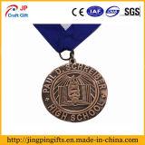Lopen het Van uitstekende kwaliteit van de douane rond de Medaille van het Metaal van het Meer