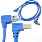 直角USB3.0 B Male CableへのMale