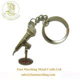 Wristlet personalizado personalizada estampado flutuante chaveiro chave dupla face de couro