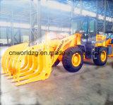 3 toneladas del cargador con el opcional de madera o hierba Pinza