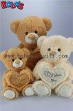 Urso animal macio novo do bege dos brinquedos dos miúdos eu te amo com descanso do coração