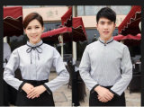 100% Cotton High quality hotel Waitress or Waiter Work Dress and uniform