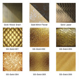 Plaque d'acier inoxydable de bord garni de certificat de l'impression 304 d'or de la Chine