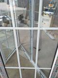 Белые двух мостов - Шидэ профиль грили дизайн UPVC дверная рама перемещена очки с отделкой из закаленного стекла