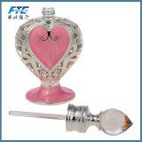 8ml Fles van het Parfum van het Glas van het Metaal van het Hart van 4.7 Duim Retro Graven Roze