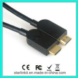 Hoge snelheid HDMI Cable 1.4V 3D 4k Gold Plated Black
