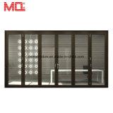 Porte de pliage intérieure en verre Inférieure-e de bâti en aluminium