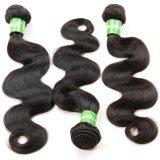 Cabelo não processado do Virgin da extensão peruana do cabelo humano da onda do corpo