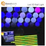 Bille stupéfiante de DEL 3D DMX pour la bille extérieure de puzzle de la décoration DMX 3D de Noël