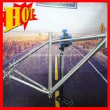 가득 차있는 현탁액 티타늄 산악 자전거 프레임