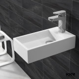 Dissipador branco do banheiro de Kkr, bacia de lavagem de superfície contínua