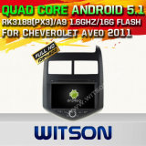 Carro DVD GPS do Android 5.1 de Witson para Cheverolet Aveo 2011 com sustentação do Internet DVR da ROM WiFi 3G do chipset 1080P 16g (A5745)