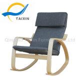 Home Lazer cadeira de balanço de madeira com cabeça
