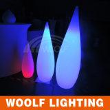 2016 LED Color Changing Interior Decoração Plastic Water Drop Lâmpada de mesa