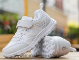 Kid's calzado zapatillas de deportes de la ejecución de los niños zapatos blancos (516)