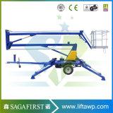 hohe Sicherheit Driveable LuftCherrypickers 10m-180kg Hochkonjunktur-Aufzug