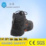 Мужчины из натуральной кожи стальную пластину PU единственной безопасности рабочая обувь