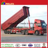 Tipo U hidráulico semi reboque de descarga / Dumper Truck / Carga semi reboque