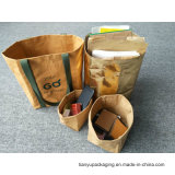 Waschbares Papier-Speicher-Beutel, metallischer waschbarer Papierbeutel für Speicherung