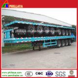 4 essieux type long à plat contenant de la remorque du véhicule