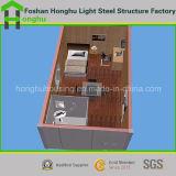 Estructura de acero de la casa prefabricada moderna del envase