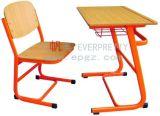 高等学校学生のための学校家具の修復された単一の机及び椅子