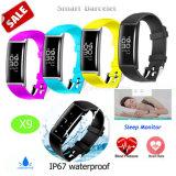 Het slimme Digitale Horloge van Armbanden Bluetooth met het Tarief van het Hart X9