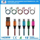 Экранирующая оплетка алюминиевый корпус Micro USB и кабель зарядного устройства для синхронизации шнур питания для сотового телефона