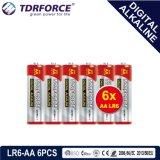 1.5V Digital alkalische Batterie-trockene Batterie mit BSCI (LP6-AA 6PCS)