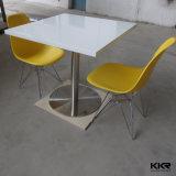 Tableau dinant de marbre rond en pierre artificiel de meubles de restaurant premier