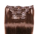 Верхний оптовый зажим волос бразильянина верхнего качества белокурый 100% в зажиме волос китайца Extensionquality белокуром 100% человеческих волос в человеческих волосах