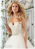 2016年のAラインのレースの水晶花嫁のウェディングドレス(2802)
