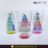 Het in het groot Glas van het Bier van de Pint met schittert het Embleem van de Kerstboom