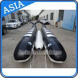 Double bateau de banane de forme de dauphin de rangée pour 10 curseurs de personne