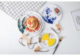La pintura creativa Placas de cerámica de los países nórdicos con un mango filetes Plato