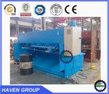 Corte hidráulico da guilhotina de QC11Y-20x2500 E10 e máquina de estaca da placa
