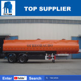 Del titán 36cbm de gasolina del depósito semi del acoplado 2 del árbol de petróleo del buque del acoplado de carbón del acero de gasolina del depósito acoplado semi
