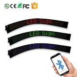 Colore flessibile senza fili di bianco del segno di Scrolling LED di Bluetooth del telefono mobile di illuminazione P3.75-7X80 della decorazione di animazione di Bluetooth del segno della visualizzazione di LED del testo