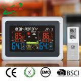Intérieur en extérieur Météo Baromètre Thermomètre numérique couleur avec rétroéclairage de l'horloge de l'humidité