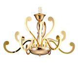 Lampadario a bracci moderno del pendente dell'acciaio inossidabile di stile dei 12 indicatori luminosi