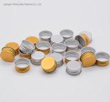 Bouchons à vis en aluminium avec l'or couleur argentée