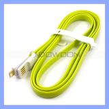 1.2m (4FT) Magnet Flat Micro USBCable Color USB 2.0 High Speed Noodle Cable für Samsung HTC Huawei Motorola Fahrwerk Nokia Sony Erricsson usw.