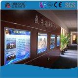 ガイドのパネルの細いライトボックスを広告する端末