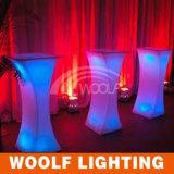 추가 300desigsn LED 결혼식 바 가구 탁자와 바 의자 발판